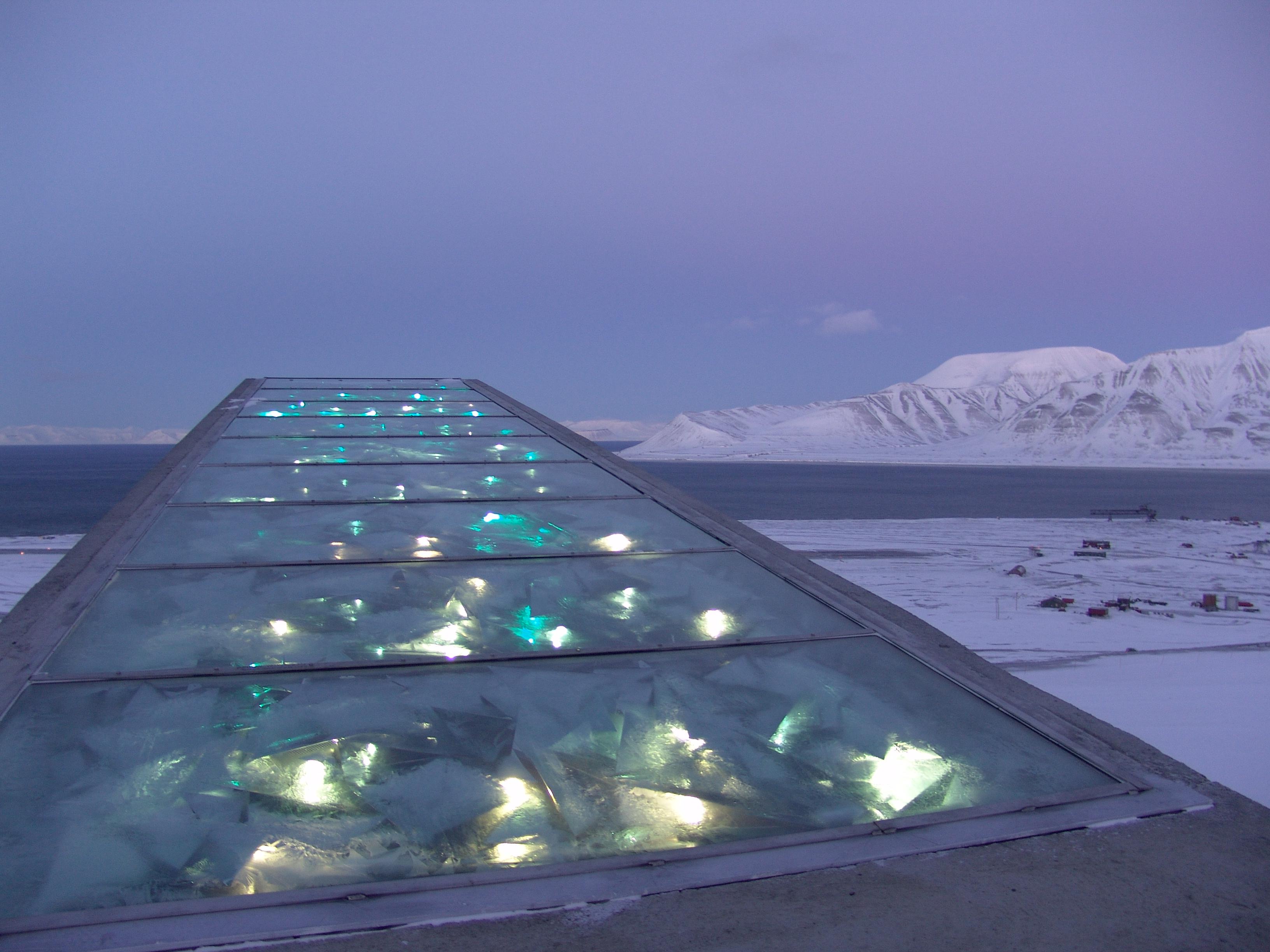 Scorcio della banca dei semi Svalbard Global Seed Vault in Norvegia