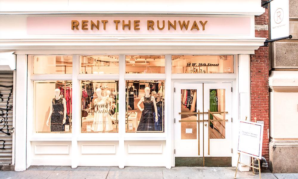 """La boutique """"Rent the Runway"""" a New York."""