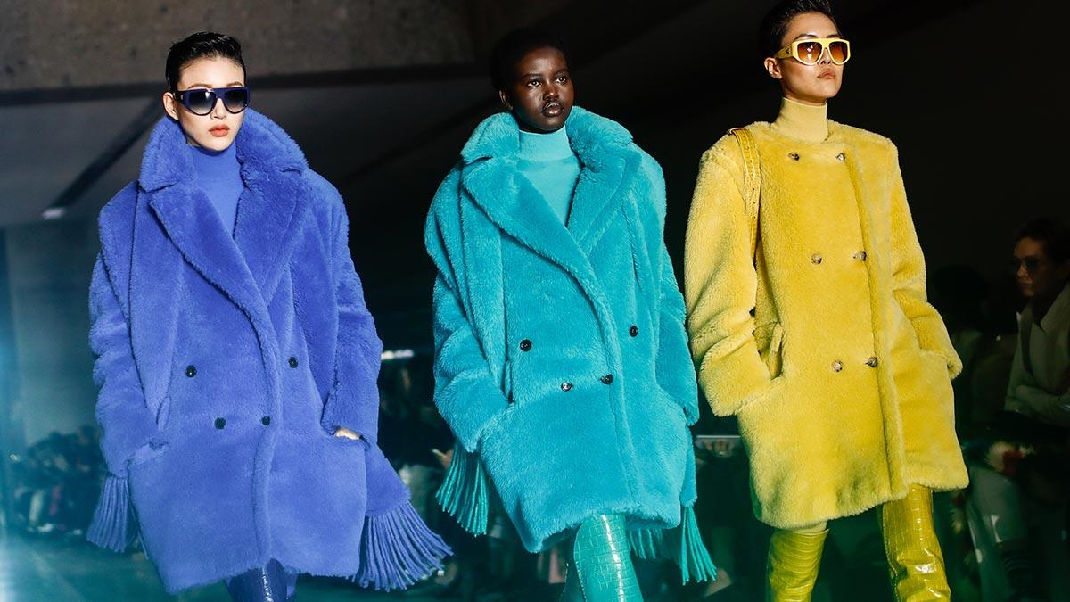teddy coat neon