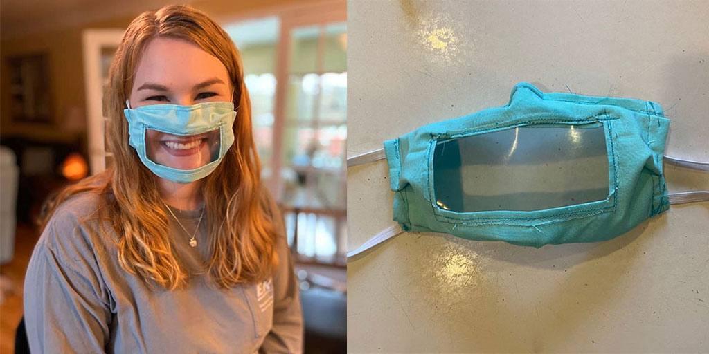In U.S.A. una studentessa cuce gratis mascherine trasparenti per i non udenti