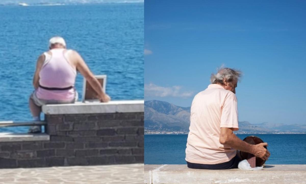 Porta al mare la defunta moglie: il commovente scatto diventa virale