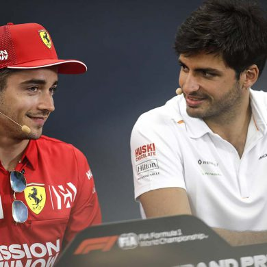 Carlos Sainz Jr e Leclerc