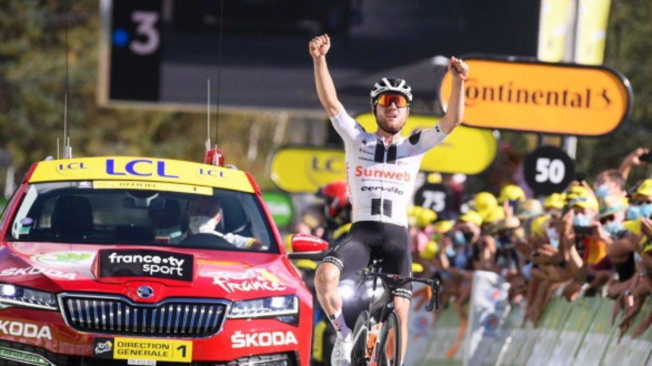 Marc Hirschi, uno dei migliori giovani di quest'edizione del Tour de France 2020