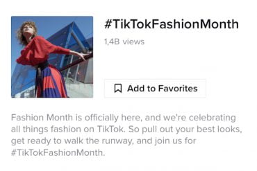 Tik Tok fashion Month