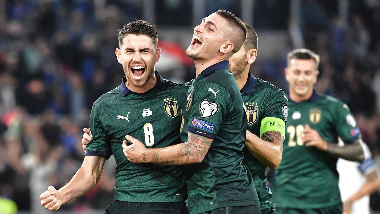 L'esultanza dell'italia dopo un gol